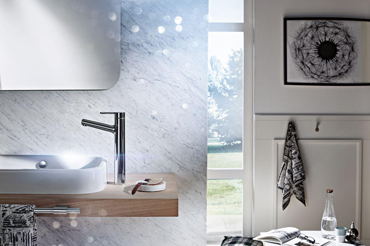 Armatur und Waschtisch – perfekte Synthese macht Naturelement ...